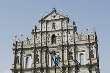 Ruins Of St. Paul In Macau Royalty Free Stock Photo