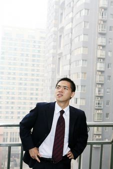 Free Man Stand Before Building Stock Images - 6842014