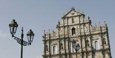 Ruins Of St. Paul In Macau Stock Photo