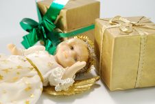 Free Doll And Gifts Royalty Free Stock Photos - 6842048