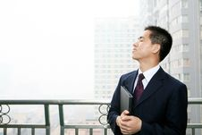 Free Man Standing In Office Building Royalty Free Stock Photo - 6842145
