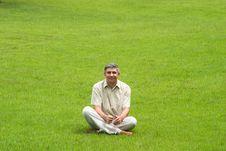 Free Sitting Man Stock Photography - 6842612