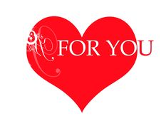 Red Heart For You Royalty Free Stock Photography