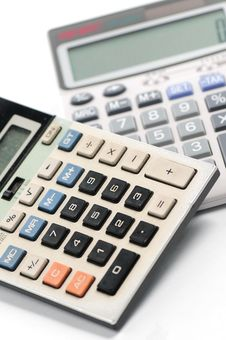 Free Calculation Tools - Calculators Stock Images - 6844164