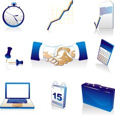 Free Business Icons Royalty Free Stock Photos - 6844908