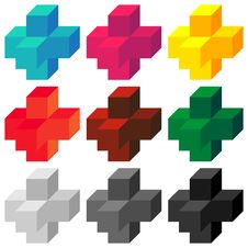 Free Colored Crosses Stock Photography - 6844932