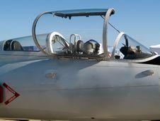 Jet Fighter S Cabin Close-up Royalty Free Stock Images