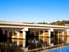 Free Bridge Over River Royalty Free Stock Photo - 6845035