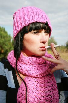 Free Woman Smoking Stock Photos - 6845043