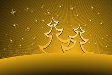 Free Christmas Trees Stock Photography - 6845102