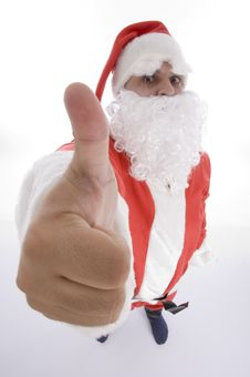 Free Santa Clause Showing Thumb Gesture Stock Photography - 6845652
