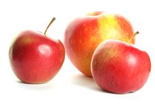 Free Three Apples Isolated On White Stock Images - 6845684