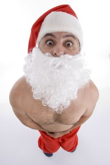 Free High Angle View Of Shocked Santa Clause Royalty Free Stock Image - 6845706