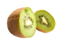 Free Sliced Kiwi Isolated On White Royalty Free Stock Photography - 6845887