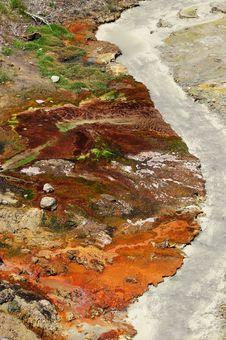 Opal Hot Pool In Yellowstone Stock Photos