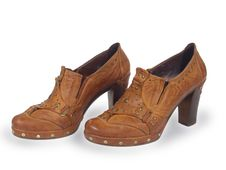 Brown Female Shoes Stock Photo