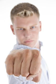 Free White Male Giving Punch Royalty Free Stock Photography - 6846837