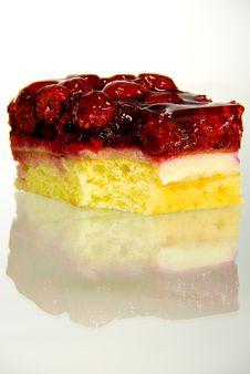 Rasberry Cake Stock Photography