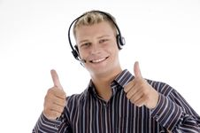 Free Executive Communicating And Showing Thumbs Up Hand Royalty Free Stock Photos - 6846898