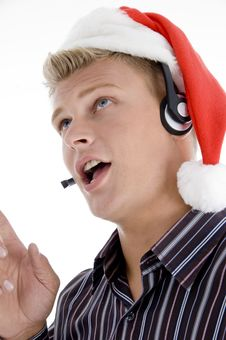 Free Close Up Of Man Interacting Through Headset Stock Photos - 6846953