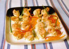 Free Shrimp Appetizer Royalty Free Stock Photo - 6847425