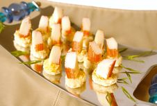 Surimi Appetizers Royalty Free Stock Photography