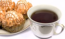 Free Cup Of Tea And Cakes Stock Images - 6847514