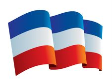 Yugoslavia Flag Stock Image