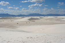 White Sands Scenic Royalty Free Stock Photos