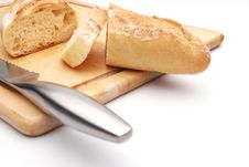 Free Sliced White Bread On A Wood Cutting Board Royalty Free Stock Photos - 6849108