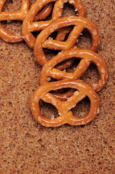 Free Small Salted Pretzels Stock Photography - 6849112