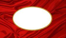 Red Silk Frame Gold Border Royalty Free Stock Photos