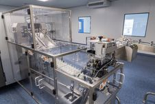 Photos Sterile Production Area With The Machine For The Production Of Tablets And Sorting Stock Photography
