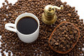 Free Cup Of Coffee With Grinder Royalty Free Stock Photography - 6851147