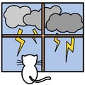 Free Cat And Lightnings Royalty Free Stock Photos - 6854828