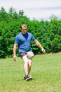 Free Soccer Player Kicking The Ball Stock Photos - 6855463
