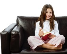 Free Girl Reading A Book Stock Photos - 6850223