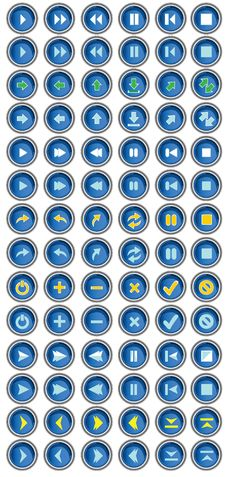 Free BLue Button Arrows Set Royalty Free Stock Photo - 6850735