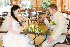 Free Couple In The Restaurant Stock Image - 6851001