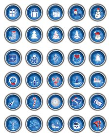 Free Collection Of Christmas Icons Royalty Free Stock Photography - 6851187
