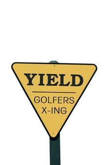 Free Isolated Yield Golfer Crossing Sign Stock Photos - 6851293