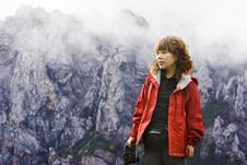 Free Girl And Landscape Stock Image - 6851401