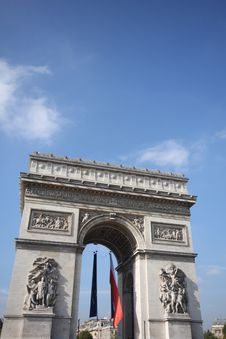 Free Arc De Triomphe Royalty Free Stock Photography - 6851457