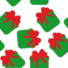 Free Seamless Pattern With Green Gifts Royalty Free Stock Photos - 6851488