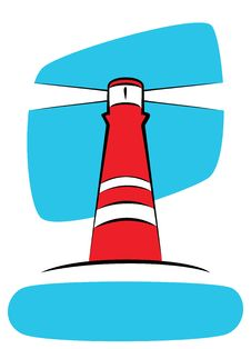 Free Red Lighthouse Royalty Free Stock Image - 6851806