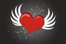 Free Heart And Wings Royalty Free Stock Photos - 6851918