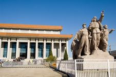 Chairman Mao Memorial Stock Images