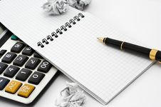 Free Notebook And Pen Stock Image - 6852041