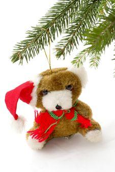 Free Santa Bear Stock Photography - 6852152
