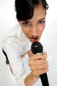 Free Female Singer Performing Stock Images - 6852234